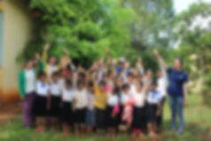 School children excited about clean water