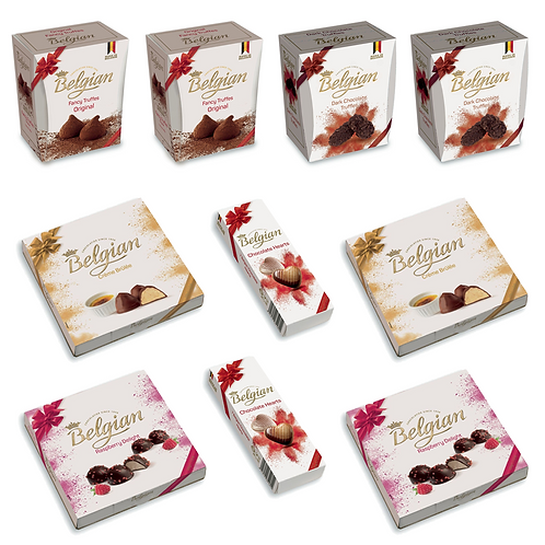 5 Boxes of Belgian Famous Fancy Truffles - Buy One Get One Free!