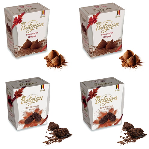 4 Boxes of Luxury Belgian Chocolate Truffles
