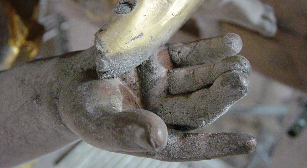 Restaurierung Walser Skulptur