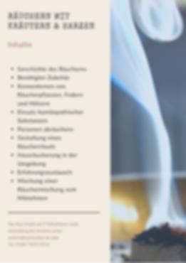 Räucherkurs | Räuchern Haus | hüttenflair Räuchern