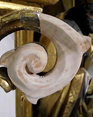 Restaurierung Walser Ergänzung Volute Neogotik