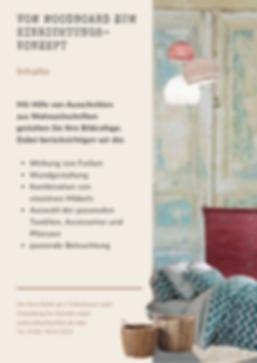 Moodboard Kurs | Raumgestaltung Annette Walser | Einrichtungskonzept