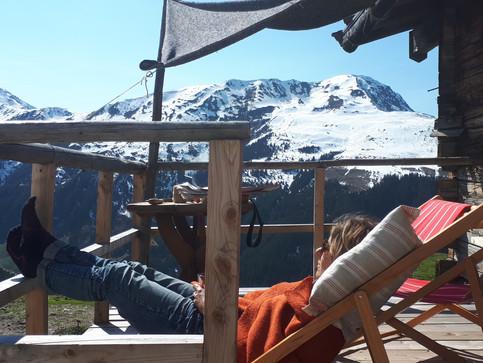 Terrassenbau Hütte Walser