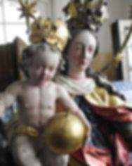 Restaurierung Walser Marienskulptur