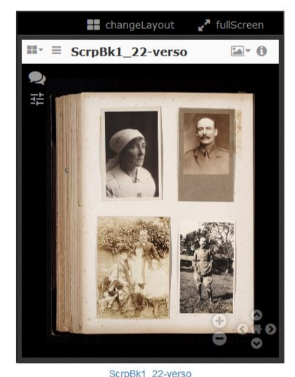 Screen shot of photo album page.