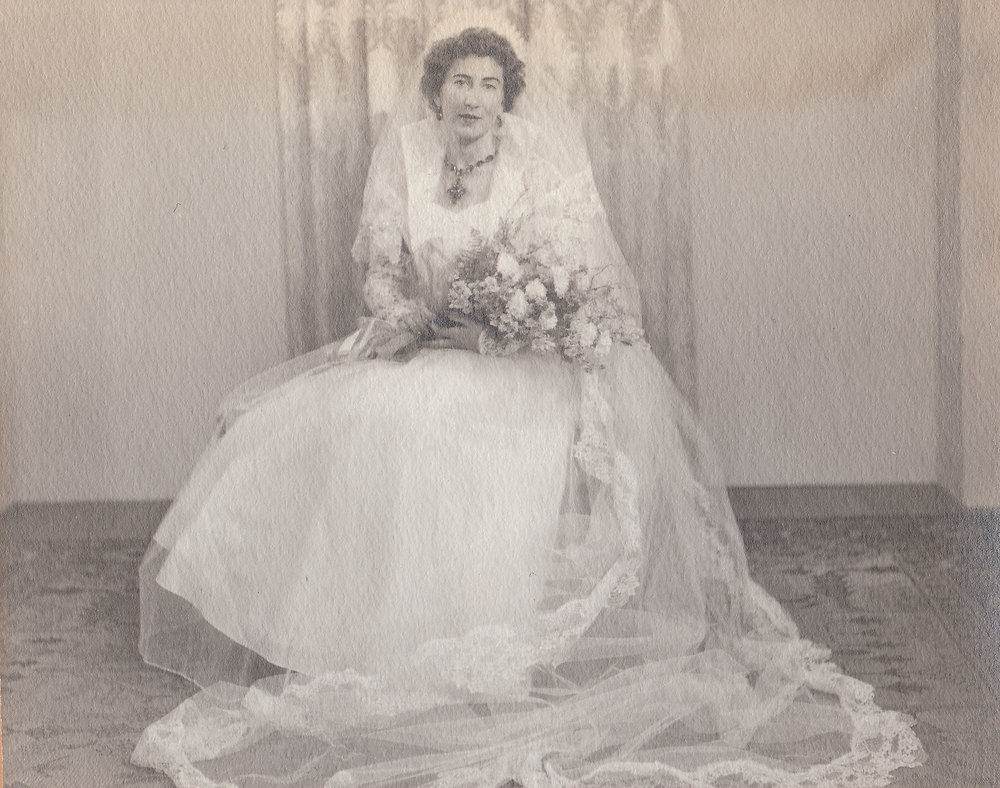 A bride on her wedding day.