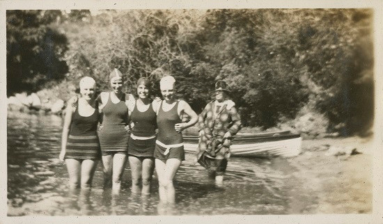 Group of ladies in swimming costume