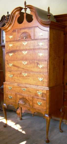 Highboy with Fitted Silverware Inserts