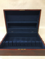 Relined Silver Chest with Pleated Flatware Holder