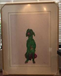 """Painting  """"Green Dog"""""""