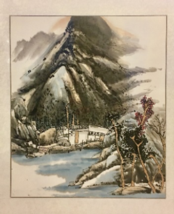 Water and Ink Painting  « 山知 »