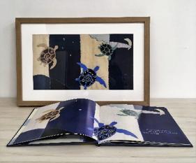 作者、插畫家張寧利用傳統手工藝創作美麗而獨特的布藝圖畫書