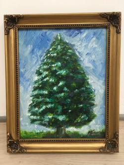 """Oil on Canvas """"Tree"""""""