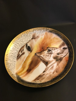 """Porcelain Round Plate """"Gentle"""""""