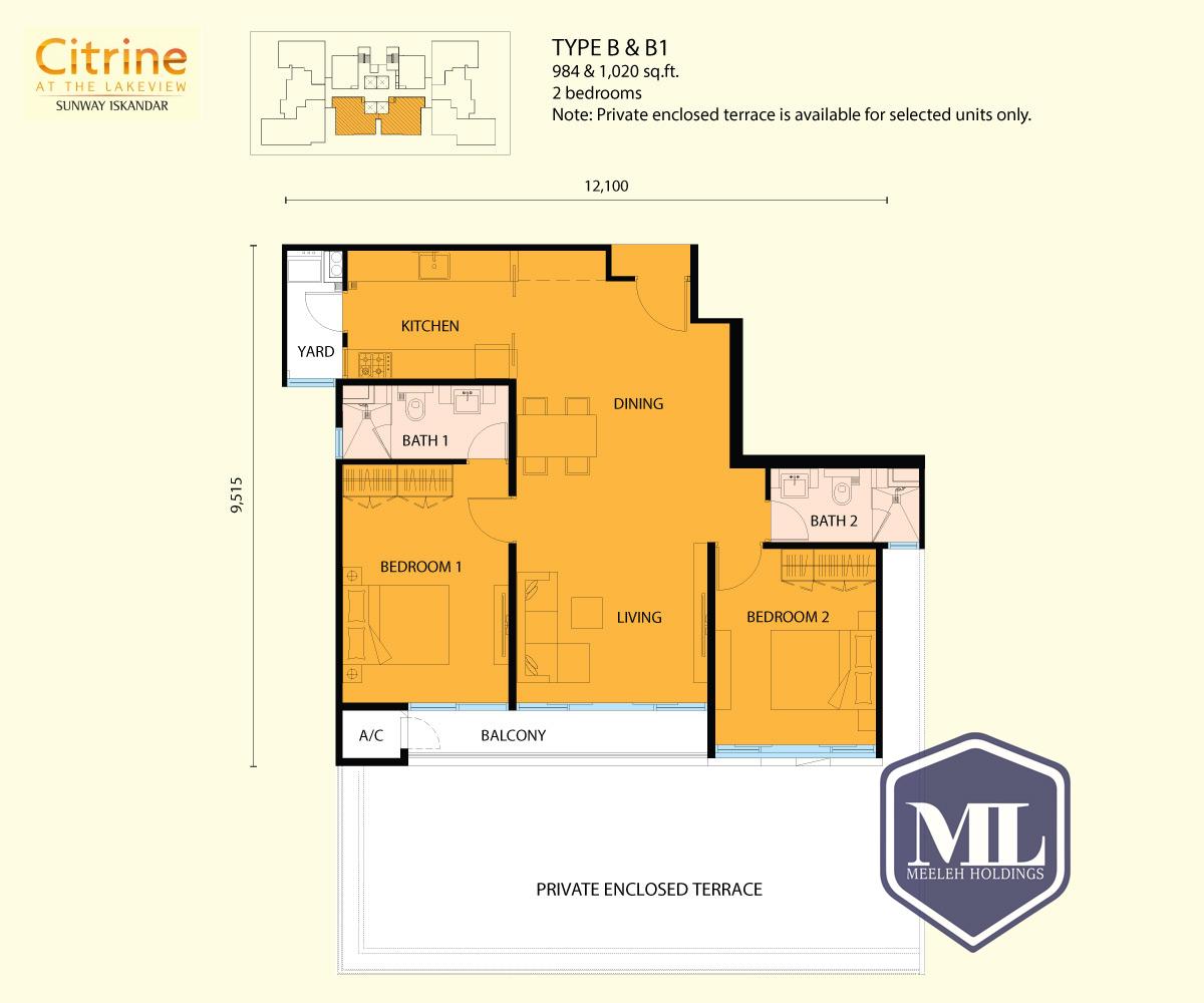 citrine residences type B1