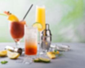 Bloody Mary and mimosa, breakfast or bru