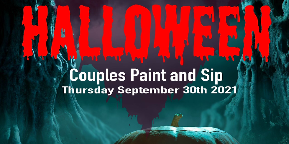 Halloween Couples Paint & Sip Night