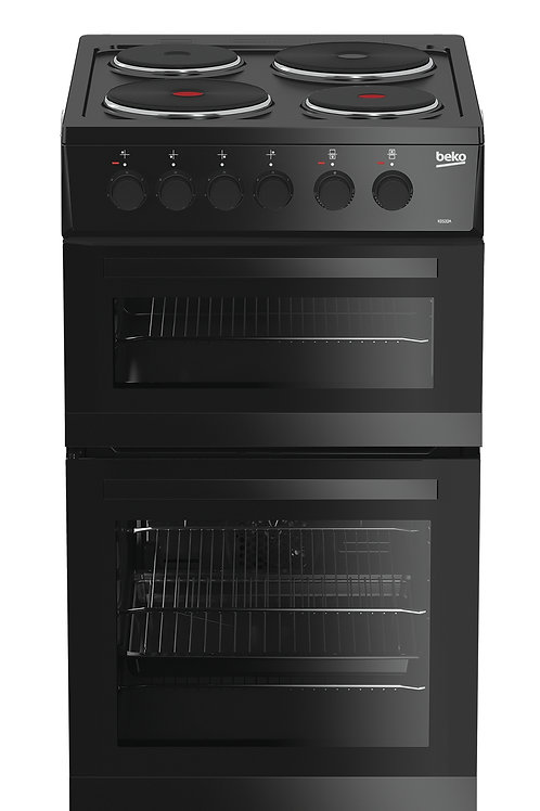 Beko 50cm Black Electric Cooker
