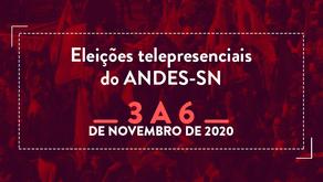 Eleições ANDES-SN 2020/2022: Saiba como será o processo de votação