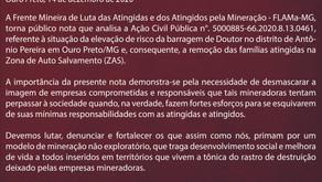 Nota pública da Frente Mineira de Luta das Atingidas e dos Atingidos pela Mineração — FLAMa-MG