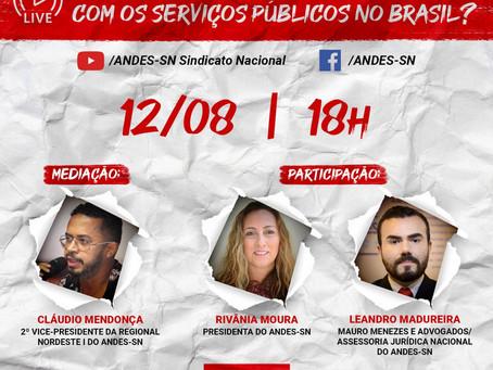 Live: Como a PEC pretende acabar com os serviços públicos no Brasil?