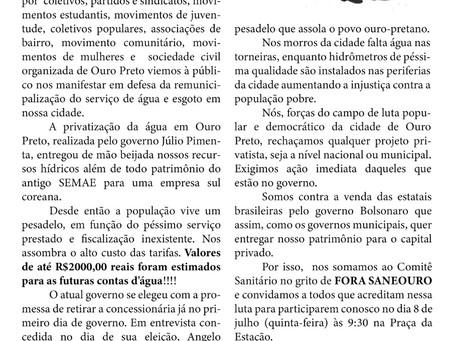Prefeito, e Câmara de Vereadores: o que falta para tirar a Saneouro?