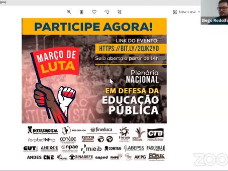 Entidades realizam plenária em defesa da Educação Pública e lançam carta aos brasileiros