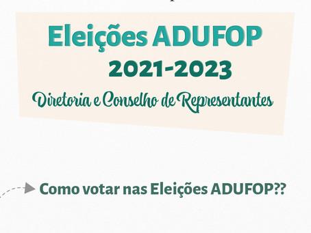 Confira o passo a passo para votar nas Eleições ADUFOP