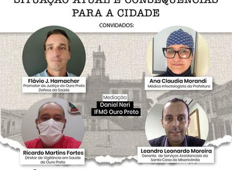 Live | COVID-19 em Ouro Preto: situação atual e consequências para a cidade
