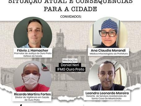 Live   COVID-19 em Ouro Preto: situação atual e consequências para a cidade