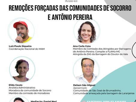 Live: Remoções forçadas das comunidades de Socorro e Antônio Pereira