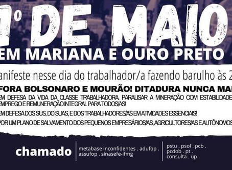 1º DE MAIO EM OURO PRETO E MARIANA
