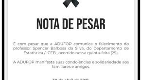 Nota de pesar - Professor Spencer Barbosa