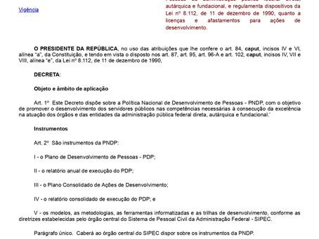 Nota da Assessoria Jurídica da ADUFOP de Esclarecimento sobre o Decreto 9.991/19