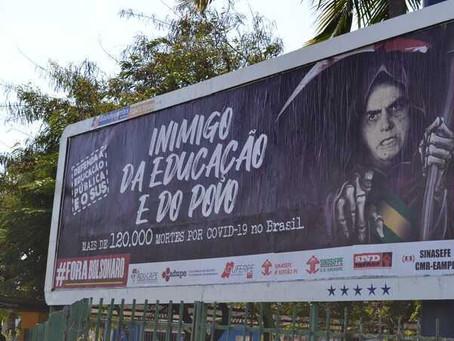 Inquérito contra docente da Uferpe por outdoor com críticas a Bolsonaro é arquivado