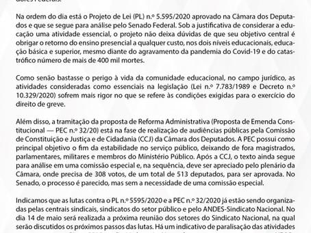 ADUFOP informa: Ataques sobre a Educação e o Serviço Público