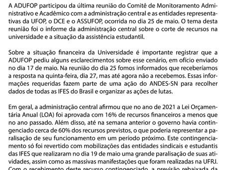 Corte de recursos da universidade e dos direitos estudantis: a situação da UFOP