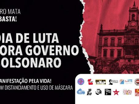29 de maio, em Ouro Preto: Dia 29: POVO NA RUA, FORA BOLSONARO