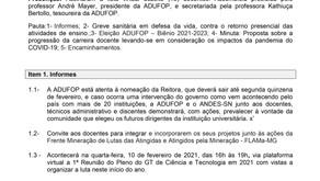Ata da Assembleia Geral ADUFOP online de 04/02/2021