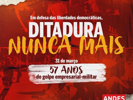 Em meio à ascensão do autoritarismo, golpe militar-empresarial no Brasil completa 57 anos