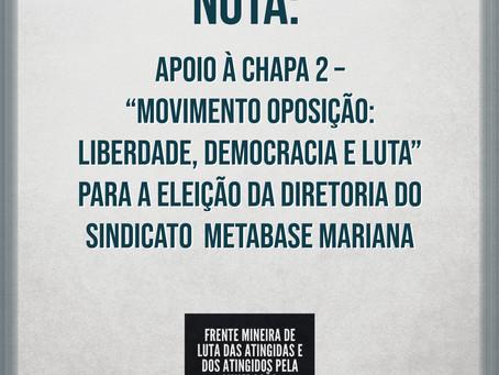 """Nota da FLAMa de apoio à Chapa 2 – """"Movimento Oposição: Liberdade, Democracia e Luta"""""""