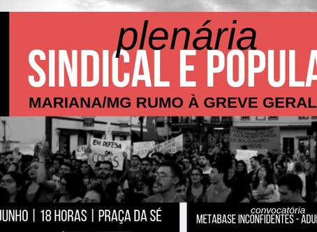 Plenária Sindical e Popular