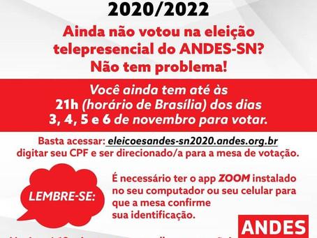 Ainda não votou nas Eleições do ANDES-SN? Saiba como votar