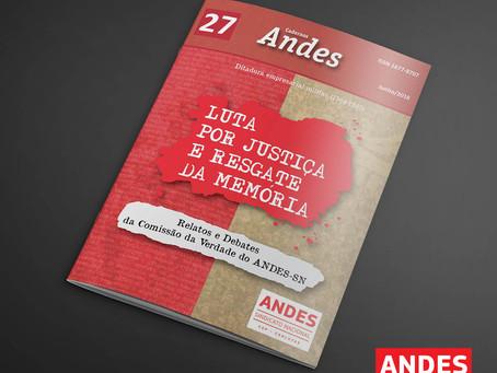 ANDES-SN lança livro e cartilha no 10º Conad Extraordinário