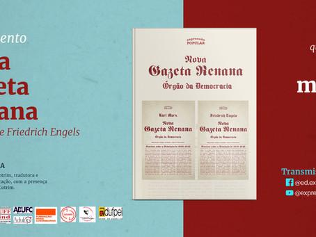 Lançamento da Nova Gazeta Renana - Karl Marx e Friedrich Engels