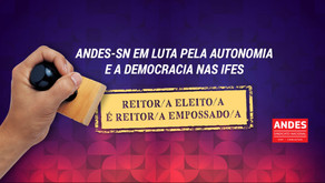 Reitoras e reitores não empossados lançam carta em defesa da democracia