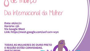 Reunião Preparatória: 8 de março | Dia Internacional da Mulher
