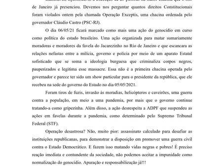Nota da Diretoria Nacional do ANDES em repúdio à chacina do Jacarezinho