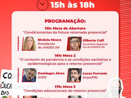 Participe do Seminário ''Em defesa da vida e da educação''
